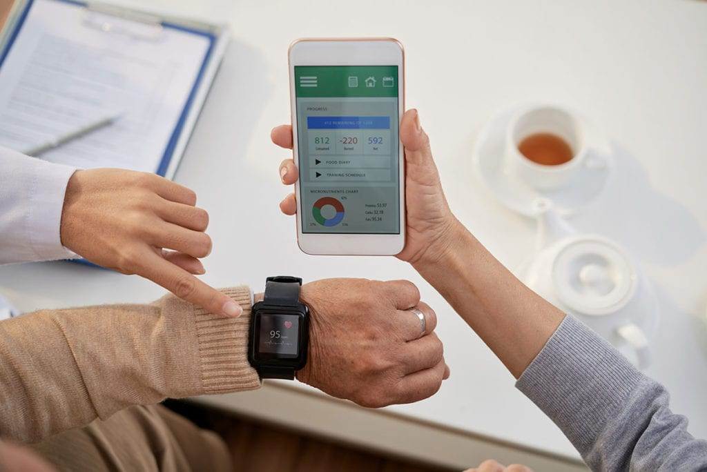 Photo of wearable health monitoring device.